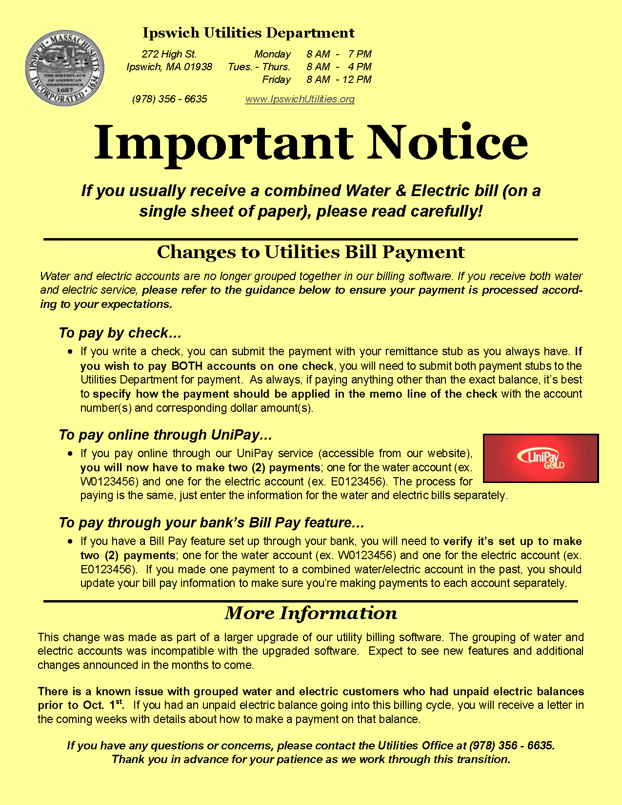 Important Notice Example