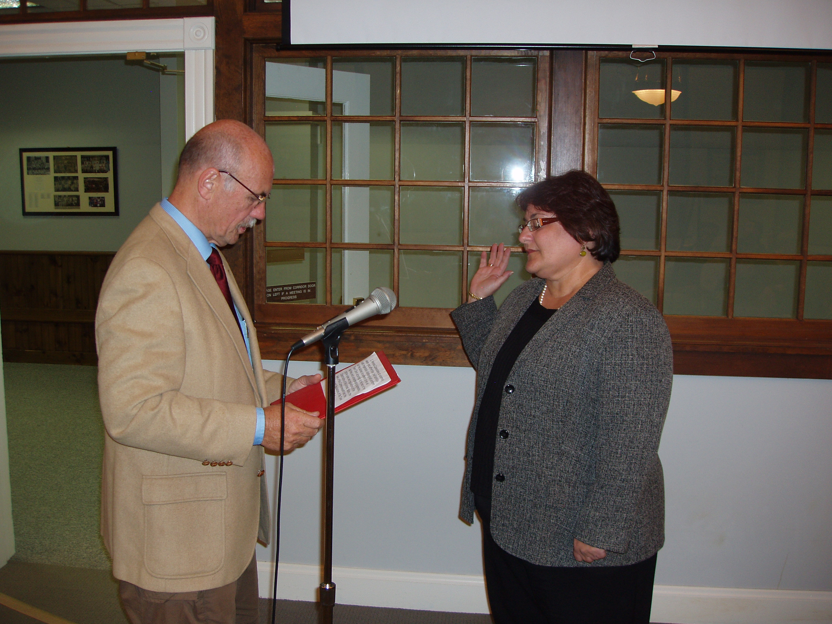 New Town Clerk Being Sworn In